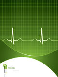 Fondo médico verde Fotos de archivo libres de regalías