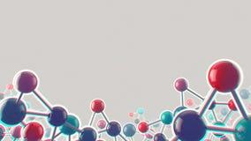 Fondo médico y de la biología ruidoso abstracto Foto de archivo