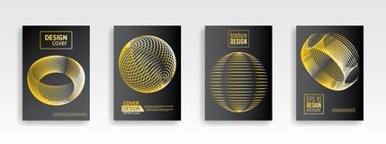 Fondo mínimo abstracto del diseño geométrico en el backgr negro Fotos de archivo