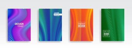 Fondo mínimo de la cubierta del diseño de la onda Imagen de archivo libre de regalías