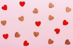 Fondo mínimo del día de tarjeta del día de San Valentín fotografía de archivo