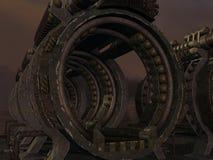 Fondo místico de la ciencia ficción Imagen de archivo