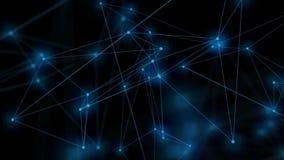 Fondo móvil abstracto Conexión de red, lazo inconsútil ilustración del vector