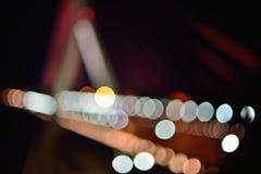 Fondo móvil abstracto de las luces de la autopista sin peaje Imagenes de archivo
