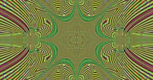 Fondo móvil colorido abstracto de la flor con un modelo de convergencia y de divergencia detallado y y una explosión en el centro libre illustration