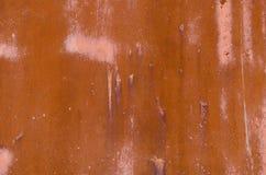 Fondo macchiato bordo arrugginito del recinto del ferro Fotografia Stock Libera da Diritti