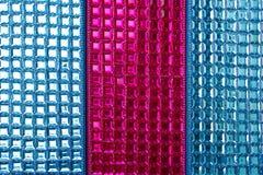 Fondo macro de la textura del primer de los cequis coloridos Fotografía de archivo