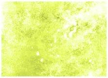 Fondo macro verde amarillo de la textura de la acuarela del extracto del sacador de la cal De alta resoluci?n imagen de archivo