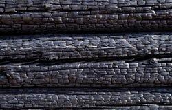 Fondo, madera quemada Imagen de archivo libre de regalías