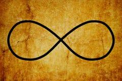 Fondo magico dell'annata di simboli di Lemniscate di simbolo cosmico di infinito royalty illustrazione gratis