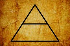 Fondo magico dell'annata di simboli di simbolo elementare dell'aria illustrazione vettoriale