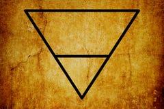 Fondo magico dell'annata di simboli di simbolo elementare della terra illustrazione vettoriale