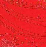 Fondo manchado rojo de la tela Fotos de archivo libres de regalías