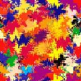 Fondo manchado y rayado del grunge del arco iris Imagen de archivo libre de regalías