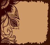Fondo a mano de la flor del garabato Puede ser utilizado para la invitación o scrapbooking Imagen de archivo libre de regalías
