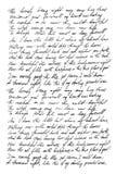 Fondo manuscrito de la textura de la escritura de la letra del texto de Unglish imágenes de archivo libres de regalías