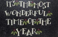 Fondo maravilloso de la muestra del año del tiempo de la Navidad Imagenes de archivo