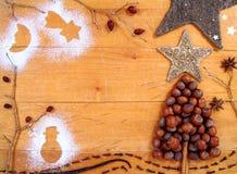 Fondo/marco de la Navidad Imágenes de archivo libres de regalías