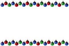 Fondo/marco de la Navidad Fotografía de archivo