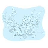 Fondo marino Immagini Stock Libere da Diritti