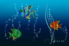 Fondo marino blu Fotografia Stock Libera da Diritti