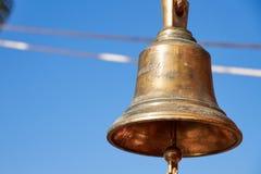 Fondo marino, campana del barco de navegación fotografía de archivo libre de regalías