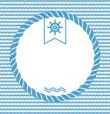 Fondo marino con la cuerda ilustración del vector
