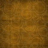 Fondo marrón abstracto con los círculos Stock de ilustración