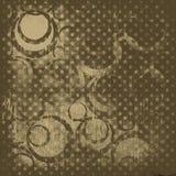 Fondo marrón abstracto con los círculos Ilustración del Vector