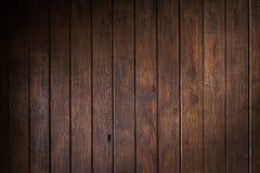 Fondo marrón de madera del tablón de la pared Imagenes de archivo