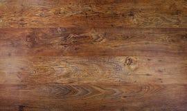 Fondo marrón de madera de la textura, espacio de la copia de la visión superior foto de archivo libre de regalías