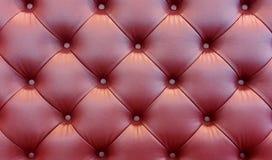 fondo marrón del cuero del sofá Imagen de archivo