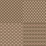 Fondo marrón inconsútil del modelo del enrejado Imagen de archivo libre de regalías