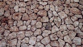 Fondo marrón natural de piedras y de guijarros almacen de video