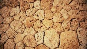 Fondo marrón natural de piedras y de guijarros metrajes