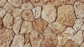 Fondo marrón natural de piedras y de guijarros almacen de metraje de vídeo