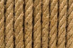 Fondo marrón torcido de la cuerda Foto de archivo libre de regalías