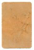 Fondo marrón usado antiguo de papel del naipe Imágenes de archivo libres de regalías