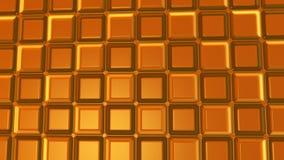 Fondo marrone astratto con le forme rettangolari Fotografia Stock