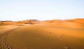 Fondo marroquí de la duna del desierto Foto de archivo libre de regalías