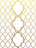 Fondo marroquí del adorno en la pendiente del oro libre illustration