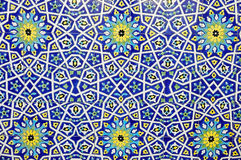 Fondo marroquí tradicional del modelo de la teja Fotos de archivo