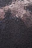 Fondo martellato nero del metallo, struttura metallica astratta, strato fotografie stock
