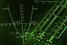 Fondo matemático Foto de archivo