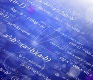 Fondo matemático Imagen de archivo