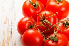 Fondo maturo dei pomodori Fotografia Stock