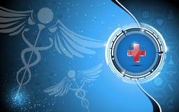 Fondo médico abstracto del concepto de la farmacia Fotografía de archivo libre de regalías