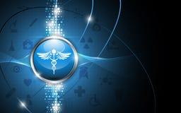 Fondo médico del extracto del concepto del logotipo de la farmacia Foto de archivo libre de regalías