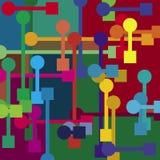 Fondo mecánico del color Imágenes de archivo libres de regalías