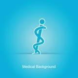 Fondo medico blu Fotografie Stock